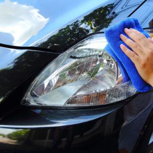Hand poliert Auto